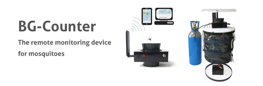The BG-Counter is the first commercially available remote monitoring device for mosquitoes. Via a web application you can manage and control your mosquito traps.