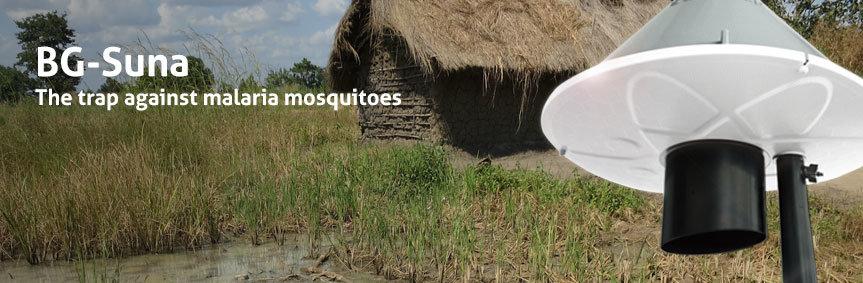 BG-Suna catches malaria mosquitoes.