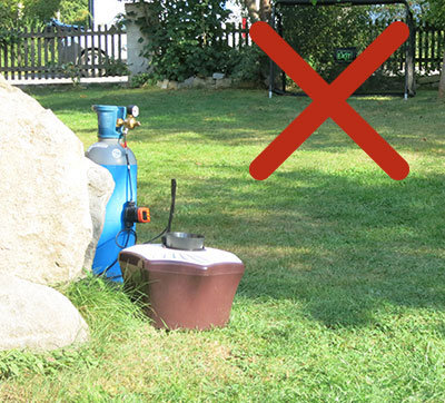 Never place the mosquito trap in windy areas.
